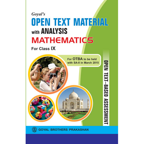 Goyals Open Text Material With Analysis In Maths For Class IX