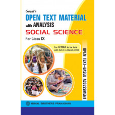 Goyals Open Text Material With Analysis In Social Science For Class IX