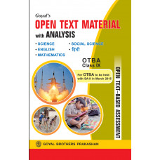 Goyals Open Text Material With Analysis (Combined) For OTBA For Class IX