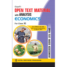 Goyals Open Text Material With Analysis In Economics For Class XI