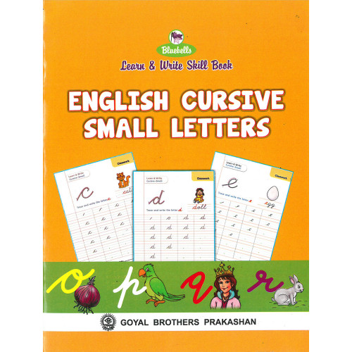 Learn and Write Skill Book English Cursive Small letters