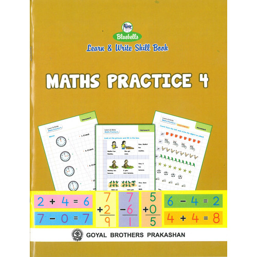 Learn & Write Skill Book Maths Practice 4