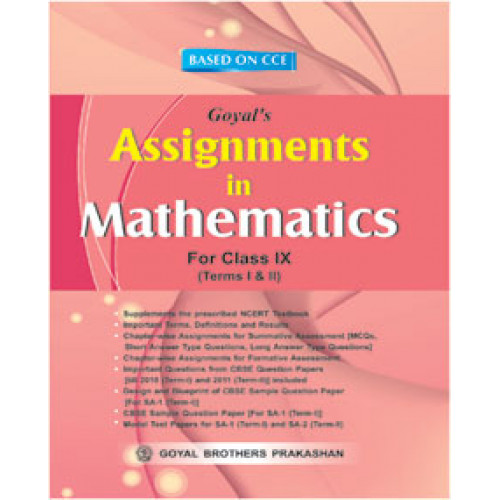 Assignments In Mathematics For Class IX For Term-I & Term-II
