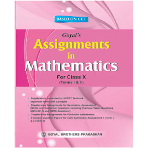 Assignments In Mathematics For Class X For Term-I & Term-II