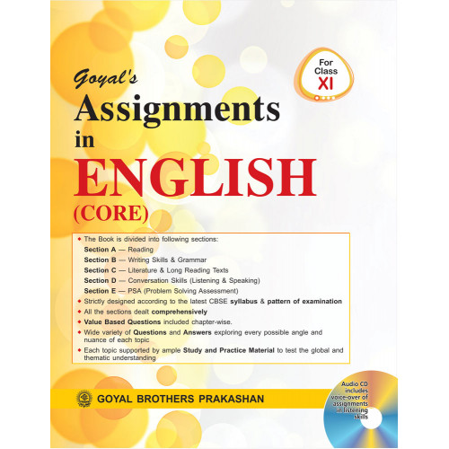 Goyals Assignments In English (Core) Course For Class XI (With CD)