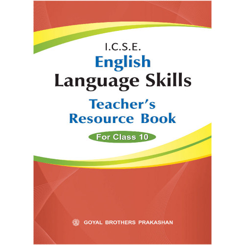 ICSE English Language Skills Teachers Resource Book Of For Class X