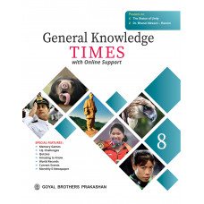 General Knowledge Times Book 8 with Online Support (2019 Edition)