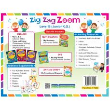 Zig Zag Zoom Level B Junior KG (Without Hindi)