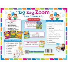Zig Zag Zoom Level C Senior KG (Without Hindi)