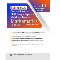 Score Plus Question Bank and CBSE Sample Paper with Model Test Paper In Mathematics (Basic) For Class 10 Term I Exam 2021-22